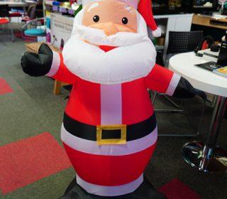 サンタさんがお帰りになります。